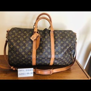 Monogram Canvas Keepall 50 Bandouliere